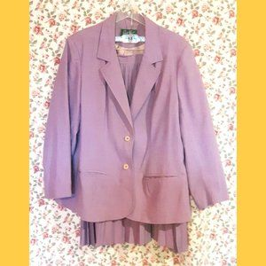 Vintage Made In Canada Pleated Skirt & Jacket Suit